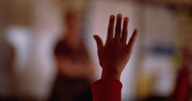 Child Holding up Hand